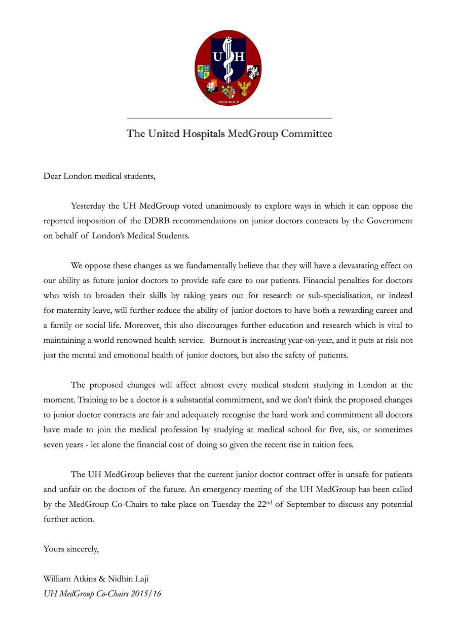 UH Letter re DDRB